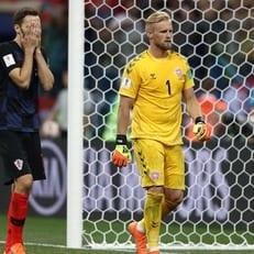 Каспер Шмейхель - лучший игрок матча Хорватия - Дания