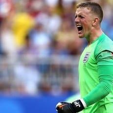 Джордан Пикфорд признан лучшим игроком матча Швеция - Англия