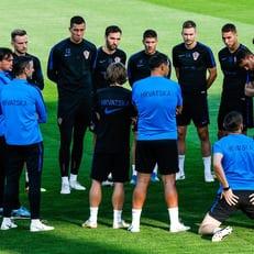 Пять игроков сборной Хорватии пропустили тренировку