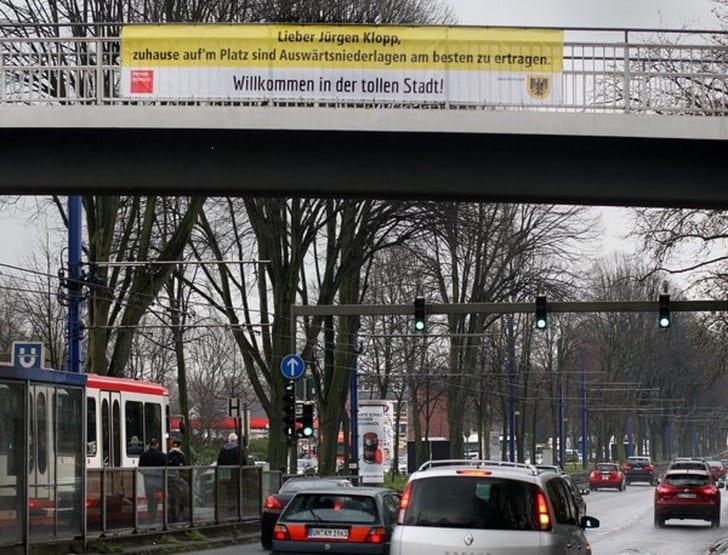 Баннер в Дортмунде