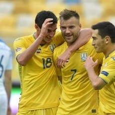 Сборная Украины забила 100-й гол в официальных домашних матчах