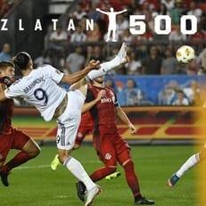 Ибрагимович забил 500-й гол в своей карьере