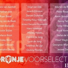 Заявка сборной Нидерландов на матчи против Франции и Германии