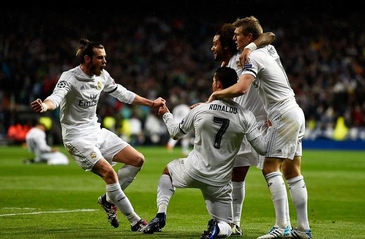 "Игроки мадридского ""Реала"" празднуют гол, Getty Images"