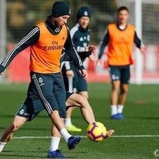 Рамос вернулся к тренировкам после повреждения