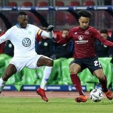 """""""Вольфсбург"""" набирает 3 очка в матче с """"Нюрнбергом"""""""