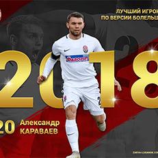 """Караваев - лучший игрок """"Зари"""" в 2018 году"""