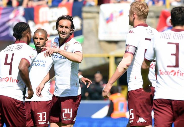 """Игроки """"Торино"""" отмечают забитый гол, LaPresse"""