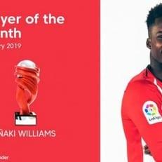 Иньяки Уильямс — лучший игрок января в Примере