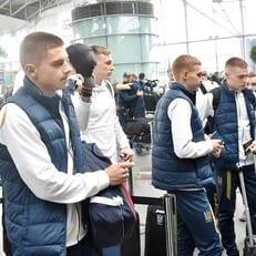 Сборная Украины прибыла в Лиссабон