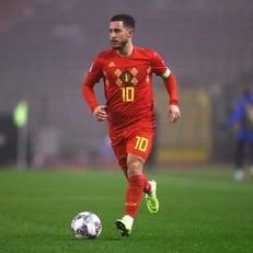 Азар провел 100 матчей в составе сборной Бельгии