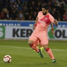 "Суарес делит с Кубалой 3-е место в истории по голам за ""Барселону"""