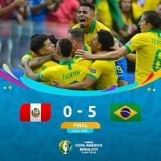 Бразилия разгромила Перу