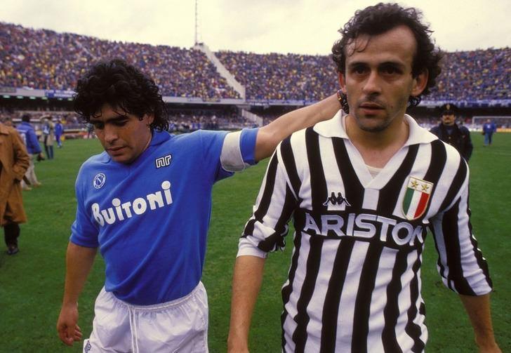 Диего Марадона и Мишель Платини, фото из Википедии