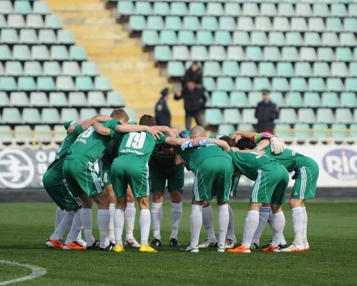 """Игроки """"Ворсклы"""" перед матчем, vorskla.com.ua"""