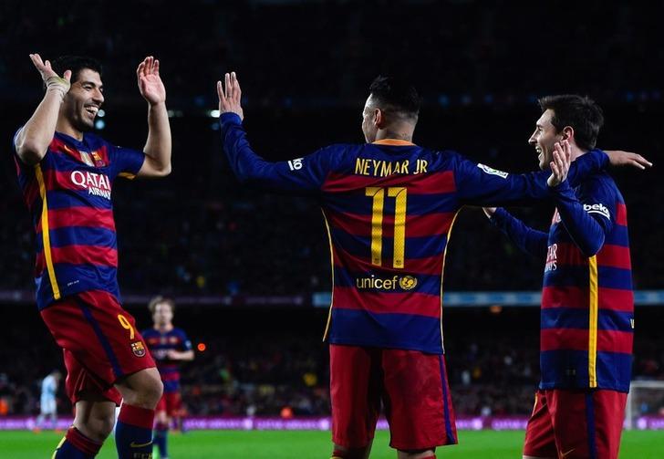 Трио нападающих Барселоны, Getty Images
