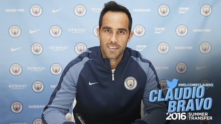 ФК «Манчестер Сити» объявил опереходе вратаря «Барселоны» Клаудио Браво