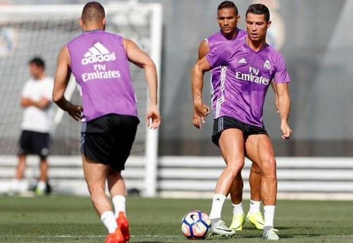 Роналду вернулся ктренировкам вобщей группе «Реала»