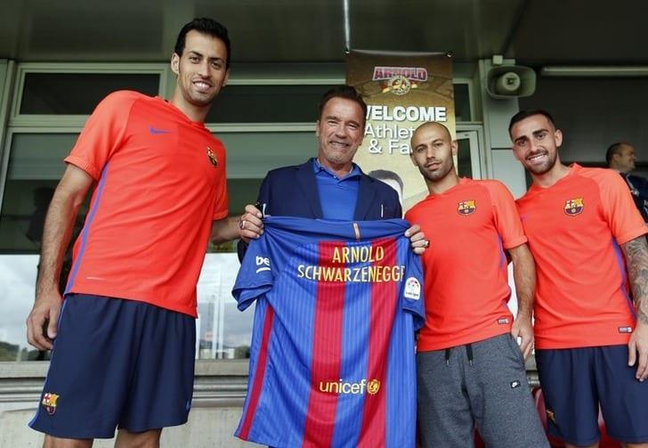 Шварценеггер посетил клубную базу «Барселоны»